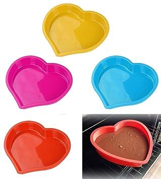 Takestop® Molde Corazón de silicona no tóxico Cake Plumcake Tarta ...