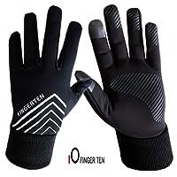 Winter Gloves Men Women Running Touch Screen Fleece Back Waterproof Liner Set,3M Design Grip,with Free Warm Earband