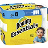 Bounty Essentials Paper Towels, White, 6 Count