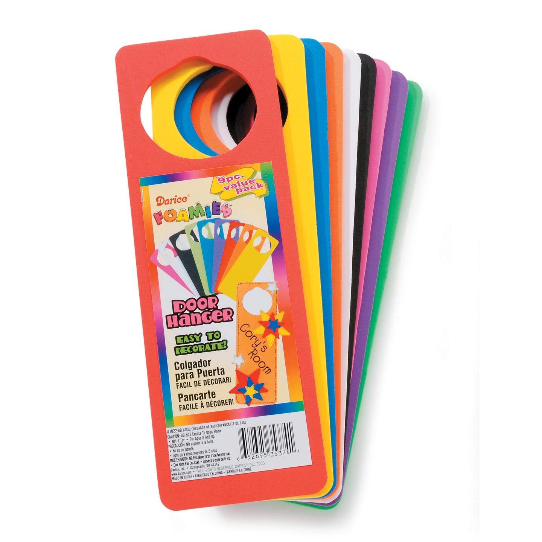 Darice Bulk Buy DIY Foamies Foam Door Hanger Basic Colors 9 Pieces (6-Pack) 1022-89