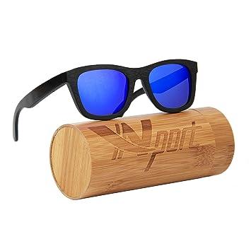 Ynport Crefreak - Gafas de sol con un diseño clásico y con estructura de madera de