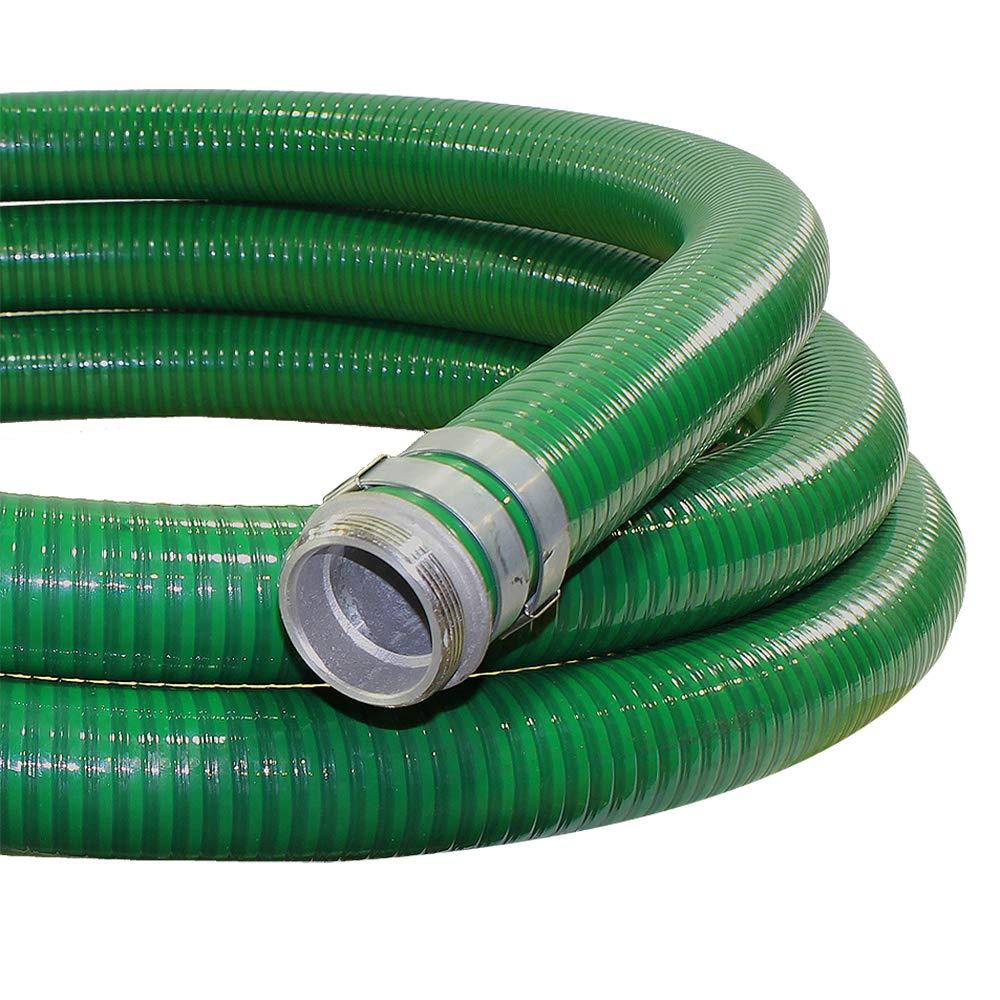 2 x 20 Green Trash Pump Hose Suction Pump Water Hose with Pump Threads//Camlock