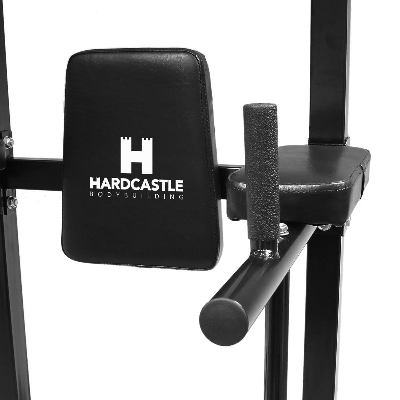 Schwarz Hardcastle Bodybuilding Kraftstation f/ür Klimmz/üge /& Dips