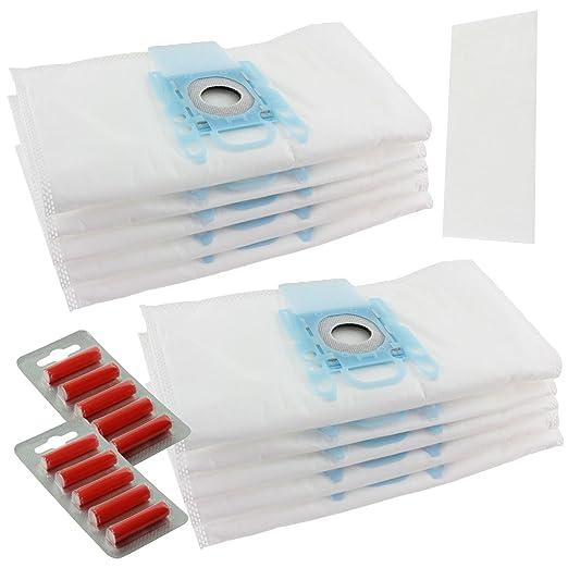 Bolsas para aspiradoras Spares2go para aspiradoras Bosch BSG6, BSG7, BSGL3126GB y GL30, paquete de 10 + 2 filtros + 10 ambientadores