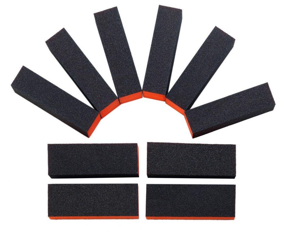 Best Quality Set of 10pcs Long Lasting Nail Art Manicure Black Buffing / Sanding Blocks / Files / Filers By VAGA