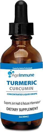 Organic Turmeric Curcumin 775mg Liposomal Extract 95 Supplement with Black Pepper as Bioperine in a Form of Turmeric Liquid Drops 2 oz in a Glass Bottle