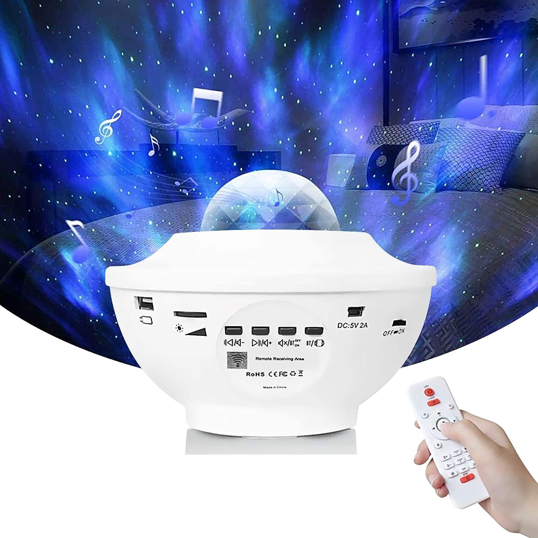 Galaxy Projector for Bedroom by Myriad365 – 3 in 1 Starry Night Light Projector w/ Bluetooth Speaker & Remote, Galaxy Night Light, Constellation/Nebula/Ocean Wave, Star Projector Sky Light