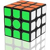 Newislandスピードキューブ 立体パズル 3×3×3立体キューブ ポップ防止立体キューブ スムーズ回転キューブ 競技用パズルキューブ 世界標準配色 6面完成攻略書(LBL法)付属 57x57x57mm (ステッカー)