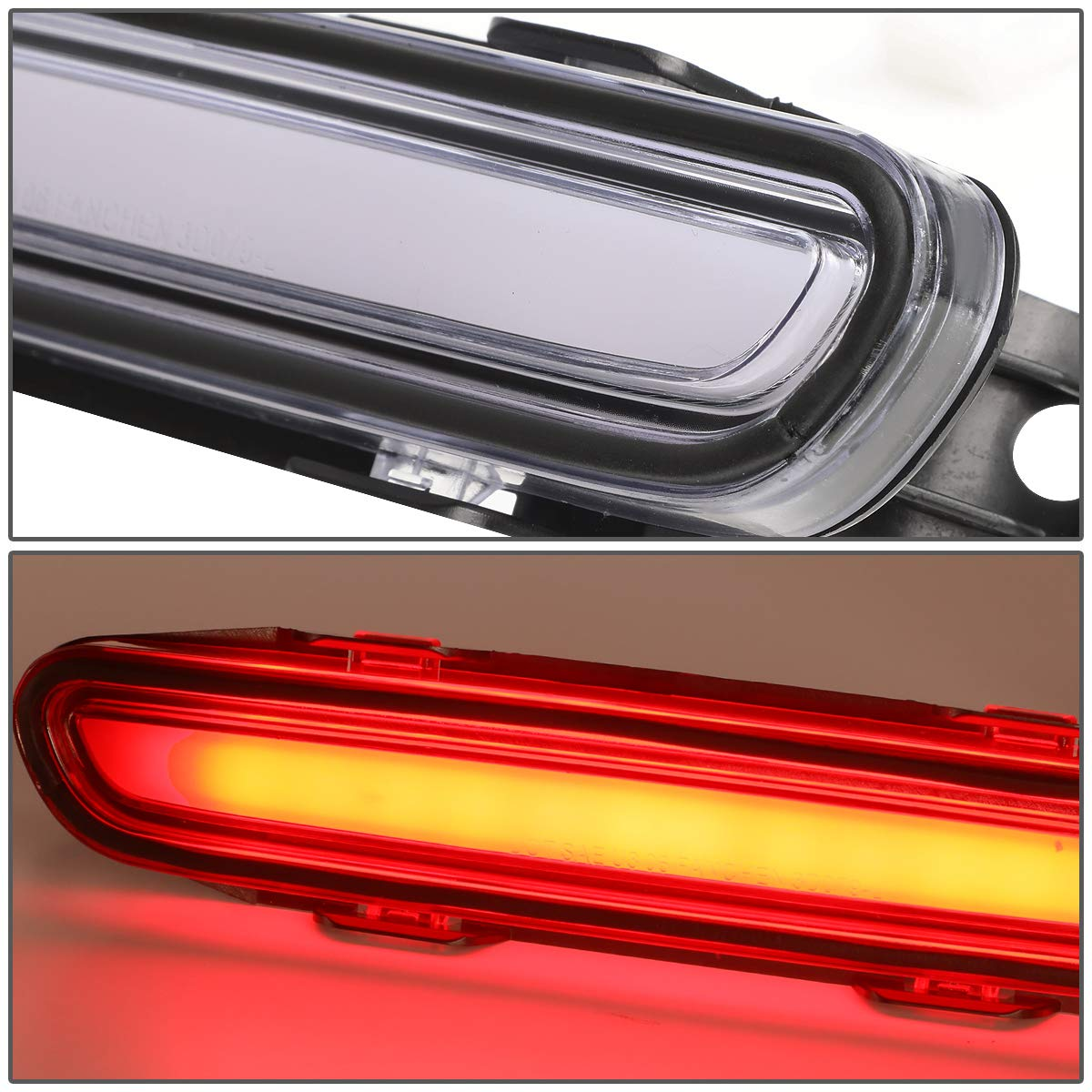 DNA Motoring Smoke 3BL-CHA06-3D-LED-SM 3D LED Bar 3rd Tail Brake Light Rear Center Stop Lamp