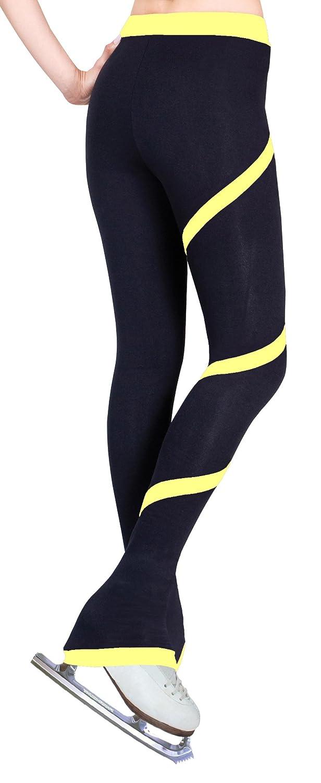 Yellow Figure Skating Spiral Polartec Polar Fleece Pants
