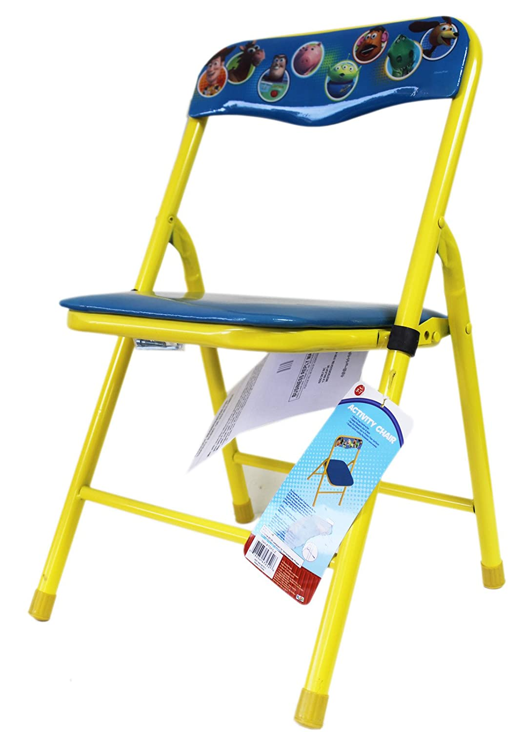 Remarkable Amazon Com Yellow And Blue Toy Story Metal Folding Chair Evergreenethics Interior Chair Design Evergreenethicsorg