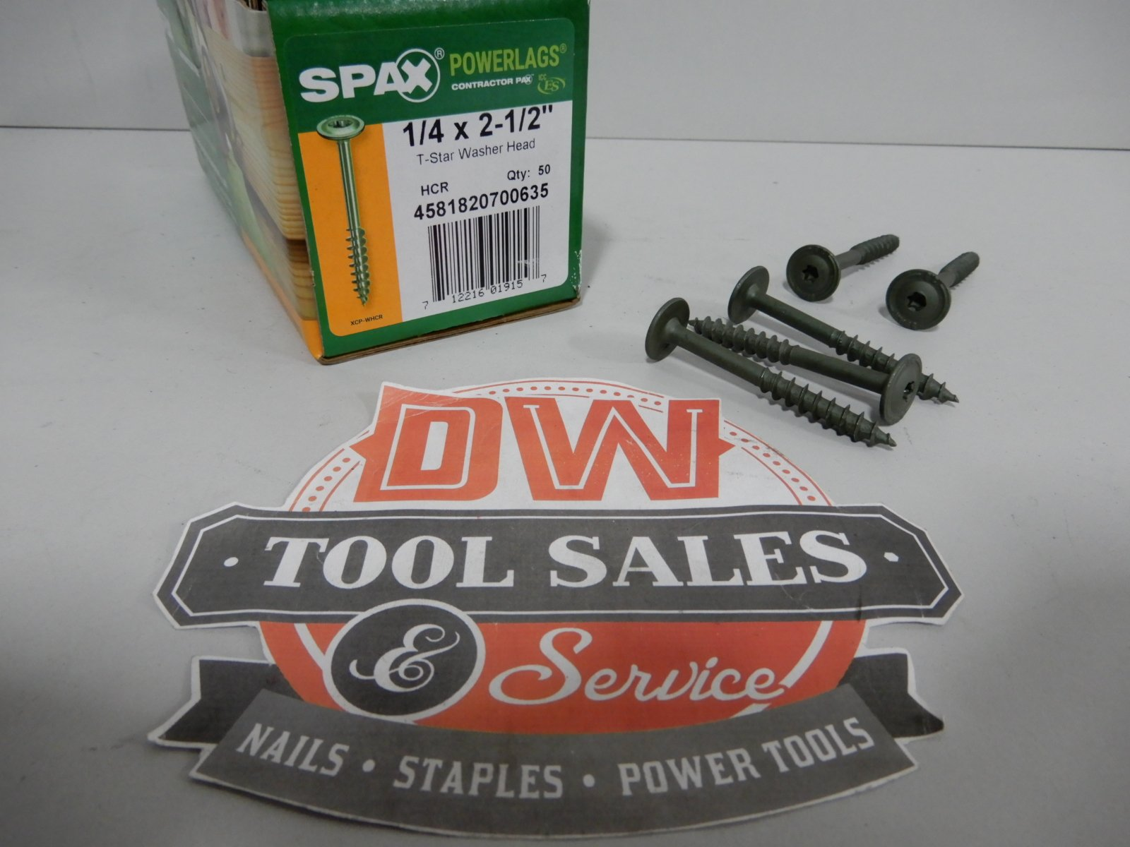 Spax Screws Made in USA 1/4'' x 2 1/2'' Washer Head Star Drive Exterior