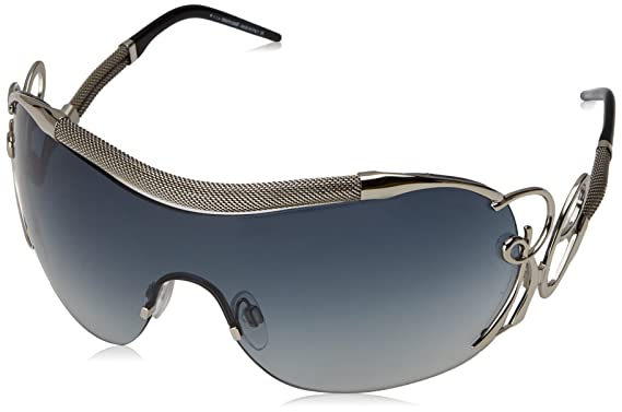 Roberto Cavalli RC 852 Botein G07 Shiny Silver Fashion Shield Sunglasses