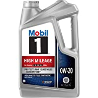 Mobil 1 High Mileage Full Synthetic Motor Oil 0W-20, 5 Quart
