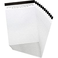"Legal Pad with Date on Top, 8-1/2"" x 11-3/4"", Write Paper, 20 Sheets, 12 Pack"