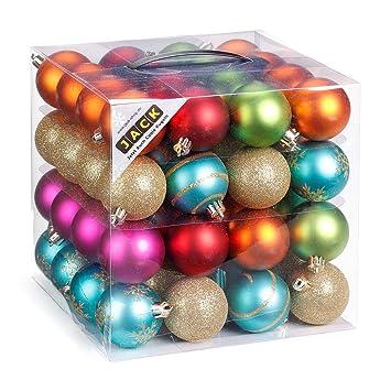 Seit Wann Gibt Es Christbaumkugeln.64 Christbaumkugeln 6cm Kugelbox Kunststoff Bruchfest Dekokugeln Weihnachtskugeln Baumkugeln Baumschmuck Set Inge Glas Plastik Pvc 60mm