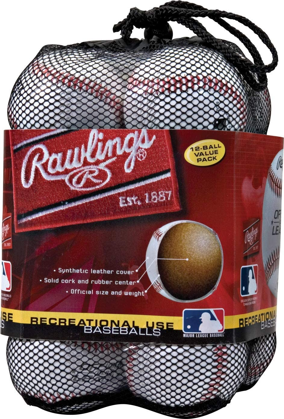 B0000CA8WW Rawlings Official League Recreational Grade Baseballs, OLB3 (Box of 3 or Bag of 12) 71Rt7dMxzJL