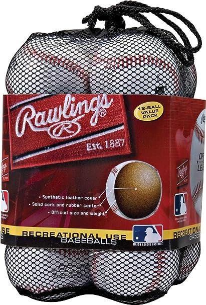 Save on 2+ Rawlings Recreational Use Baseballs OLB3-2 Ball Value Pack