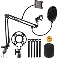 Microphone Stand, Magicfun Mic arm Desk Adjustable Suspension Boom Scissor for Blue Yeti Snowball & Other Mics for…