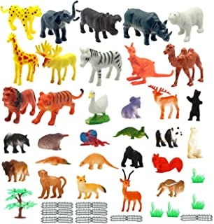 Buy Amitasha Mini Jungle Animal Toys Figure Playing Set for
