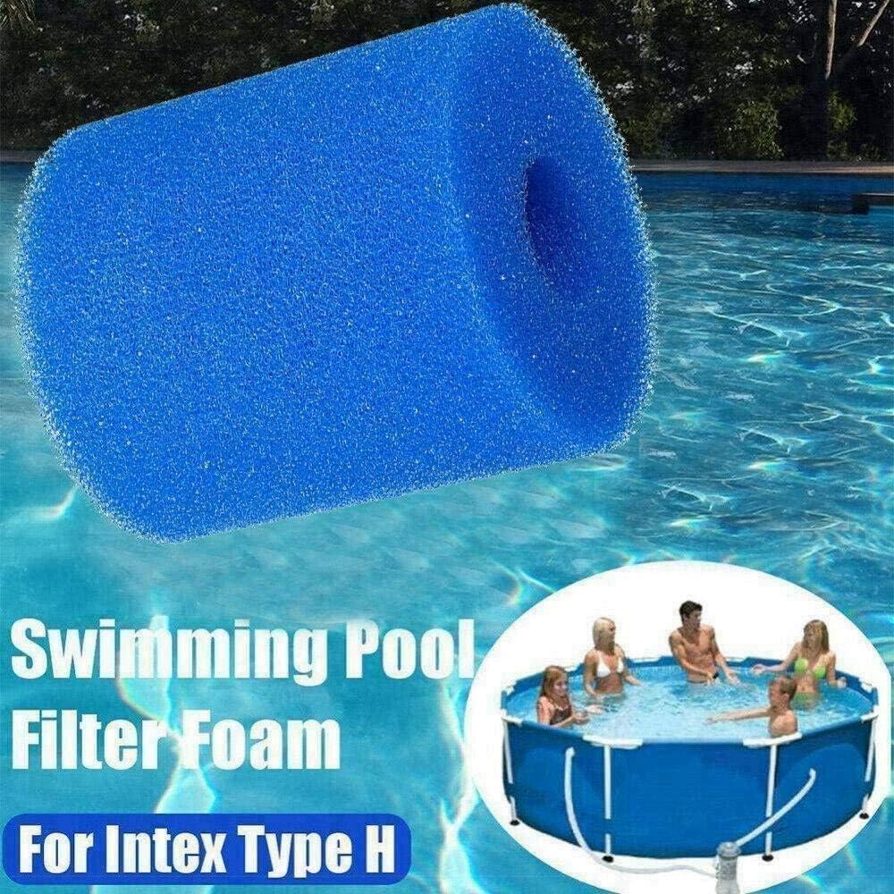 Cartouches filtrantes r/éutilisables pour Intex type H Convient pour les piscines pr/é filtrantes en mousse /Éponge lavable Lot de 6 /éponges filtrantes de type H pour piscine
