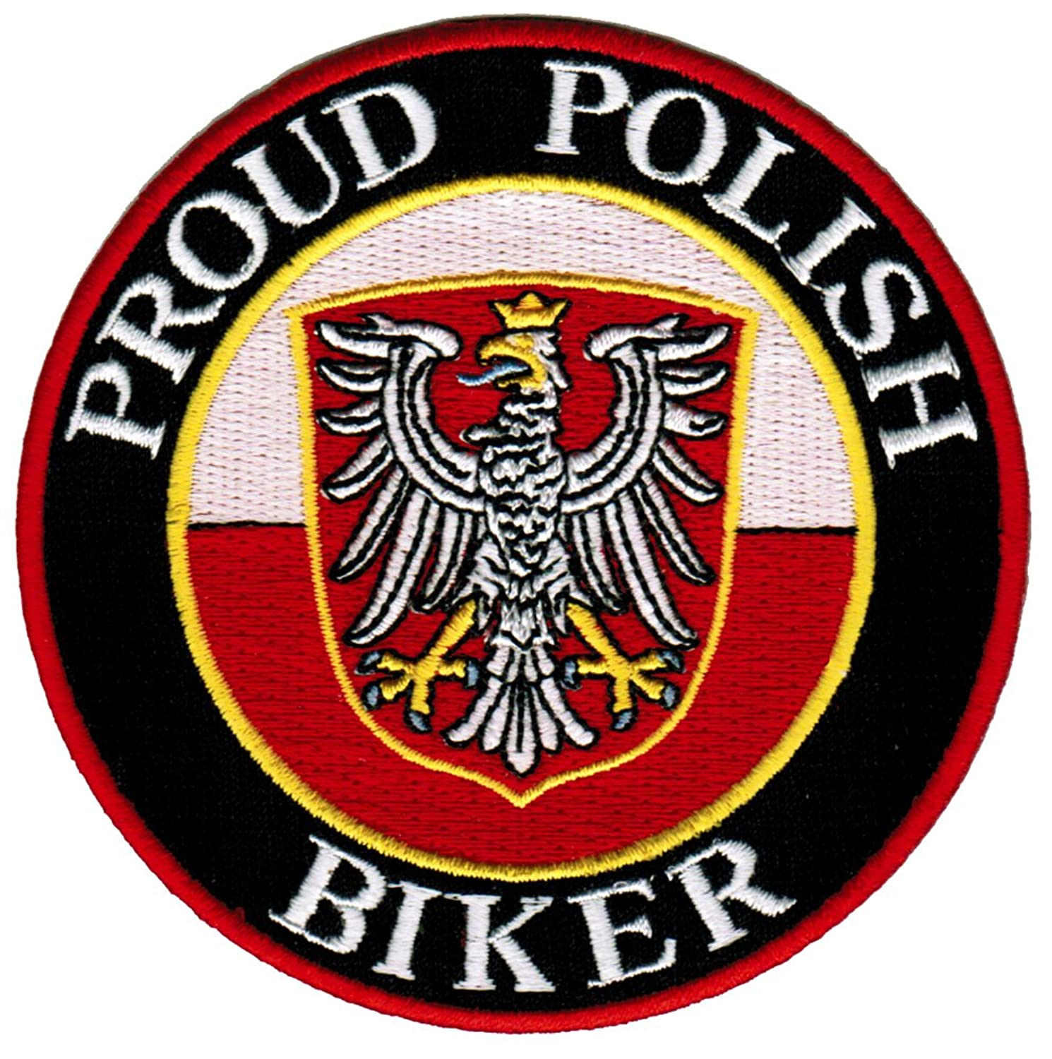 amazon com proud polish biker embroidered patch poland flag iron