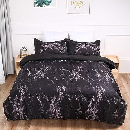 Marble Reversible Duvet Cover Set Quilt Cover Bedding Set Pillowcase
