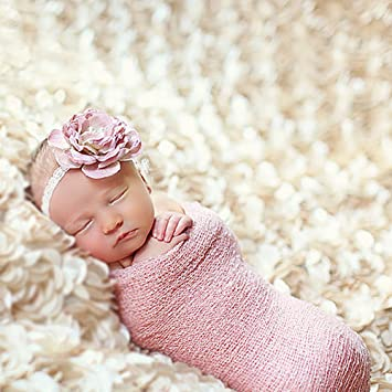 Yarra modes newborn baby photography photo props 3d rose flower backdrop beanbag blanket rug beige