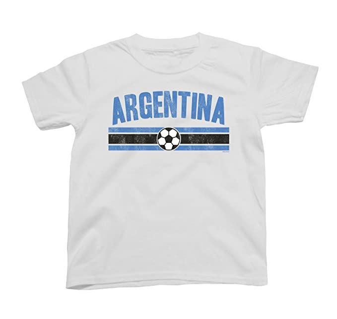 aa0e7a39349ef Boys Girls Argentina Distressed Country Football T-Shirt World Cup 2018  Kids Sports: Amazon.co.uk: Clothing