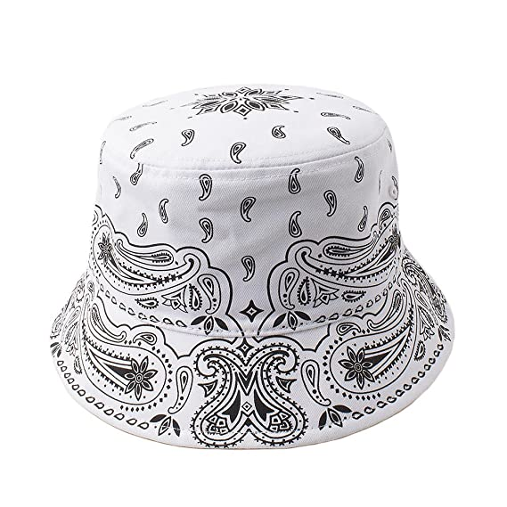 9ea8b03464f Cap2Shoes Men s Bandana Bucket Hat One Size Black at Amazon Men s Clothing  store