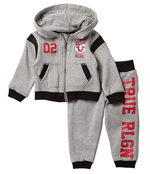 6860083b6 True Religion Baby and Toddler Boy's Hoodie & Sweatpants Set:  Amazon.ca: Clothing & Accessories