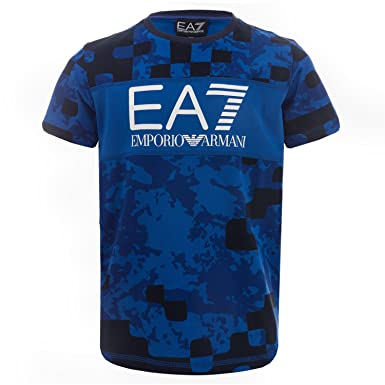 36ba61e55781 Emporio Armani Junior Boys Ea7 Train Graphic Camo T-Shirt - Short Sleeve-  Ribbed  Emporio Armani EA7  Amazon.co.uk  Clothing