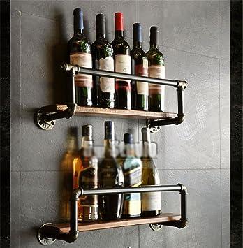 Z&HAO Rohr-Modellierung Weinregal Wand Bar Weinregal Weinflasche ...