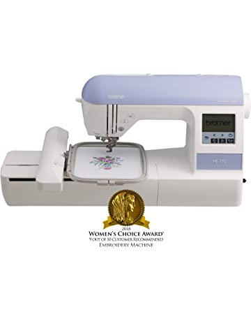 "Brother Embroidery Machine, PE770, 5"" x 7"" Embroidery Machine with Built-"