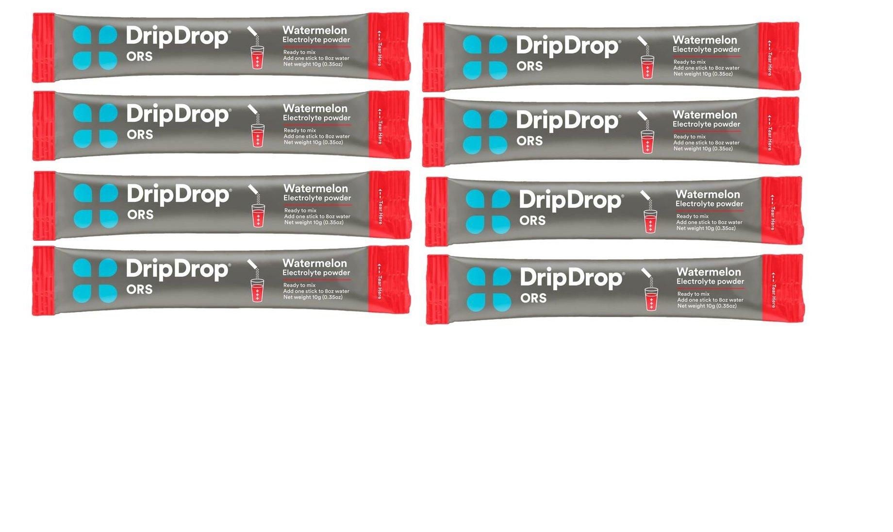 DripDrop ORS Hydration Powder, Watermelon, 8 Powder Sticks Per Box (5 Pack)