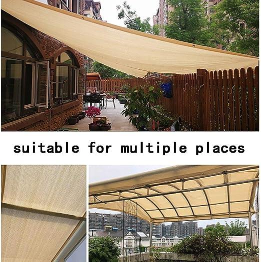 GuoWei 85% Protector Solar Velas de Sombra Malla Neto con Ojales for Jardín Al Aire Libre Personalizable (Color : Beige, Size : 2x3m): Amazon.es: Jardín