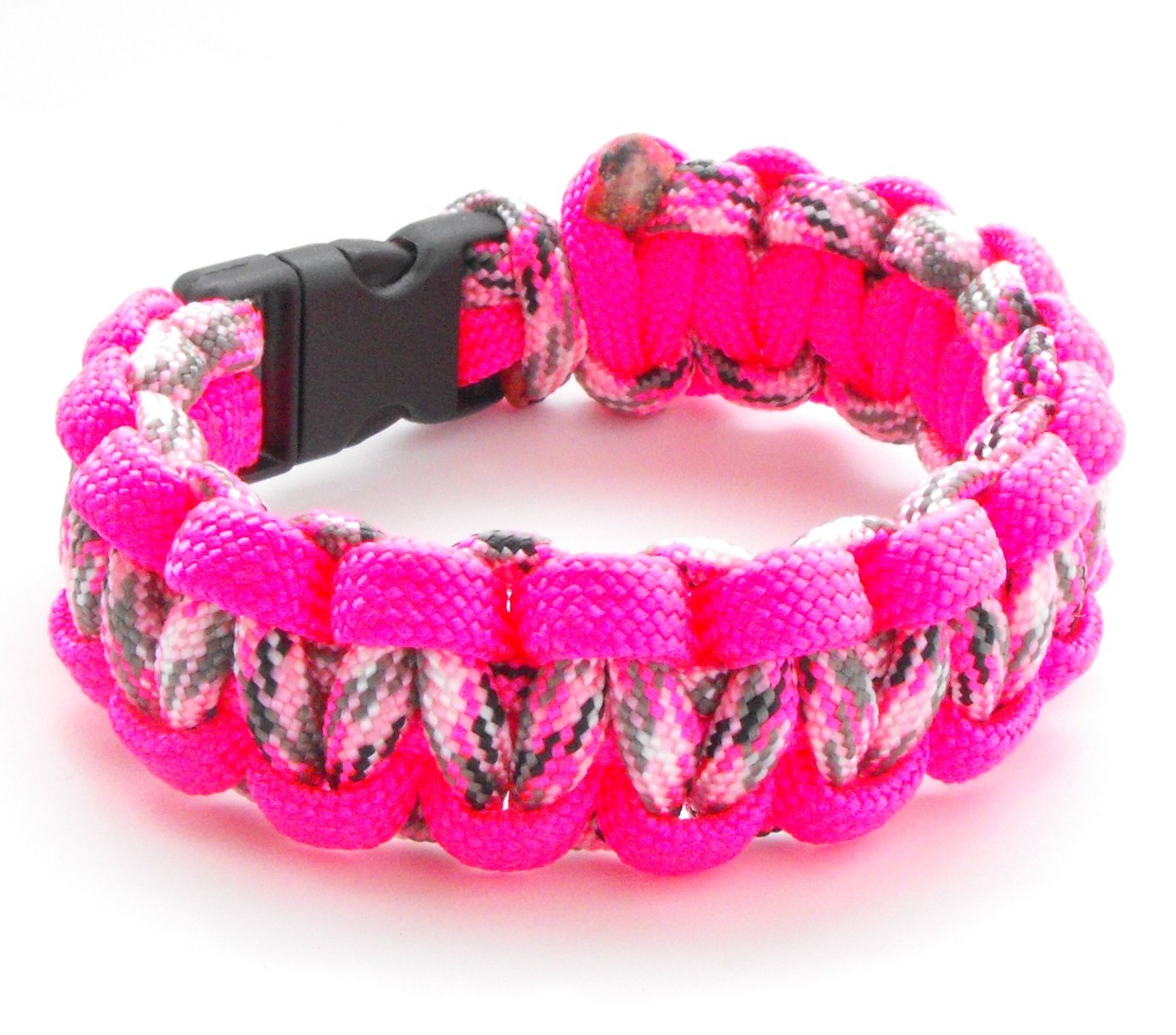 Youth 550lb Paracord Cobra Weave Bracelet With  Breakaway Plastic Buckle: Sports & Outdoors