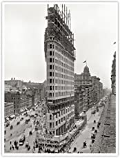 Steves Poster Store Flatiron Building Construction 1901 Poster Handmade Giclée Gallery Print Historic Photo New York City Architecture NYC Daniel Burnham Frederick P. Dinkelberg Flat Iron (18x24)