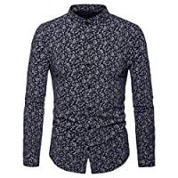 New! Fuibo Homme T-Shirt Man's Sweatshirt Impression Occasionnel Tees Homme Coupe Droite Manches Longues Repassage Facile Chemises Automne Hiver Long Sleeves Tops Blouse