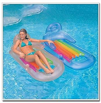 cnnIUHA - Reposamanos transparente inflable de lujo para piscina ...