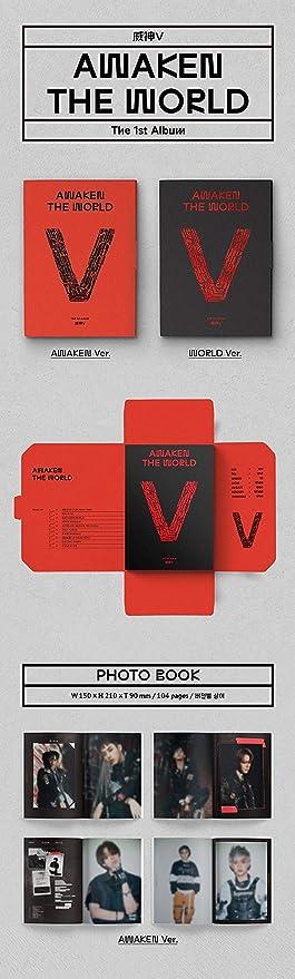 ETICHEL V WAYV Vol.1 Awaken The World +Poster+Set Fotocard Casuale Ver.