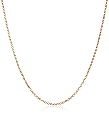 Amazoncom 14k Rose Gold Italian Rolo 1mm Chain Necklace 16 Jewelry