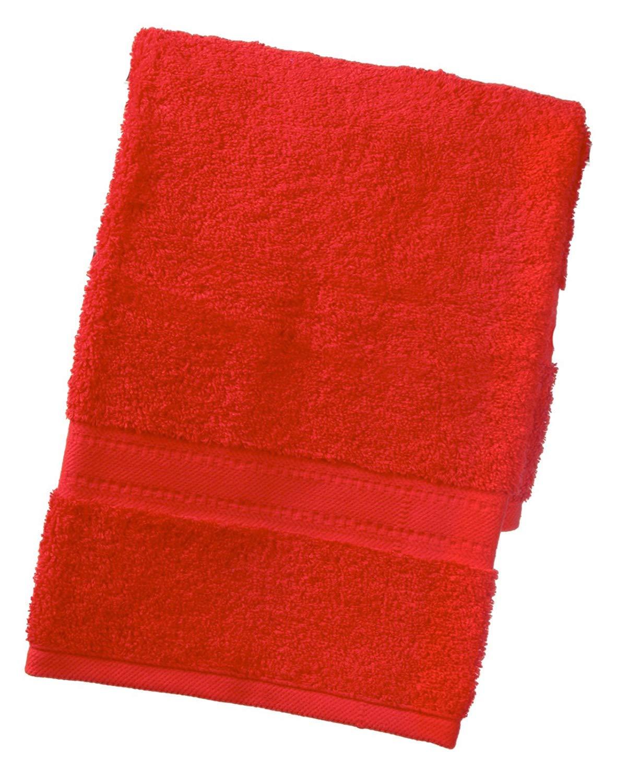 TowelsRus egipcio 100% algodón súper suave 550 gsm toalla de mano en rojo product image