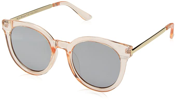 e7217892ed63 Image Unavailable. Image not available for. Colour: A.J. Morgan Women's Hi  There Round Sunglasses ...