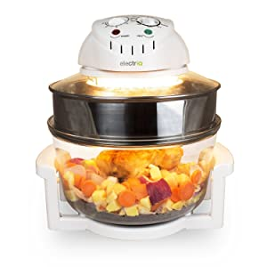 electriQ 17L Premium Halogen Oven Cooker With Extender Ring