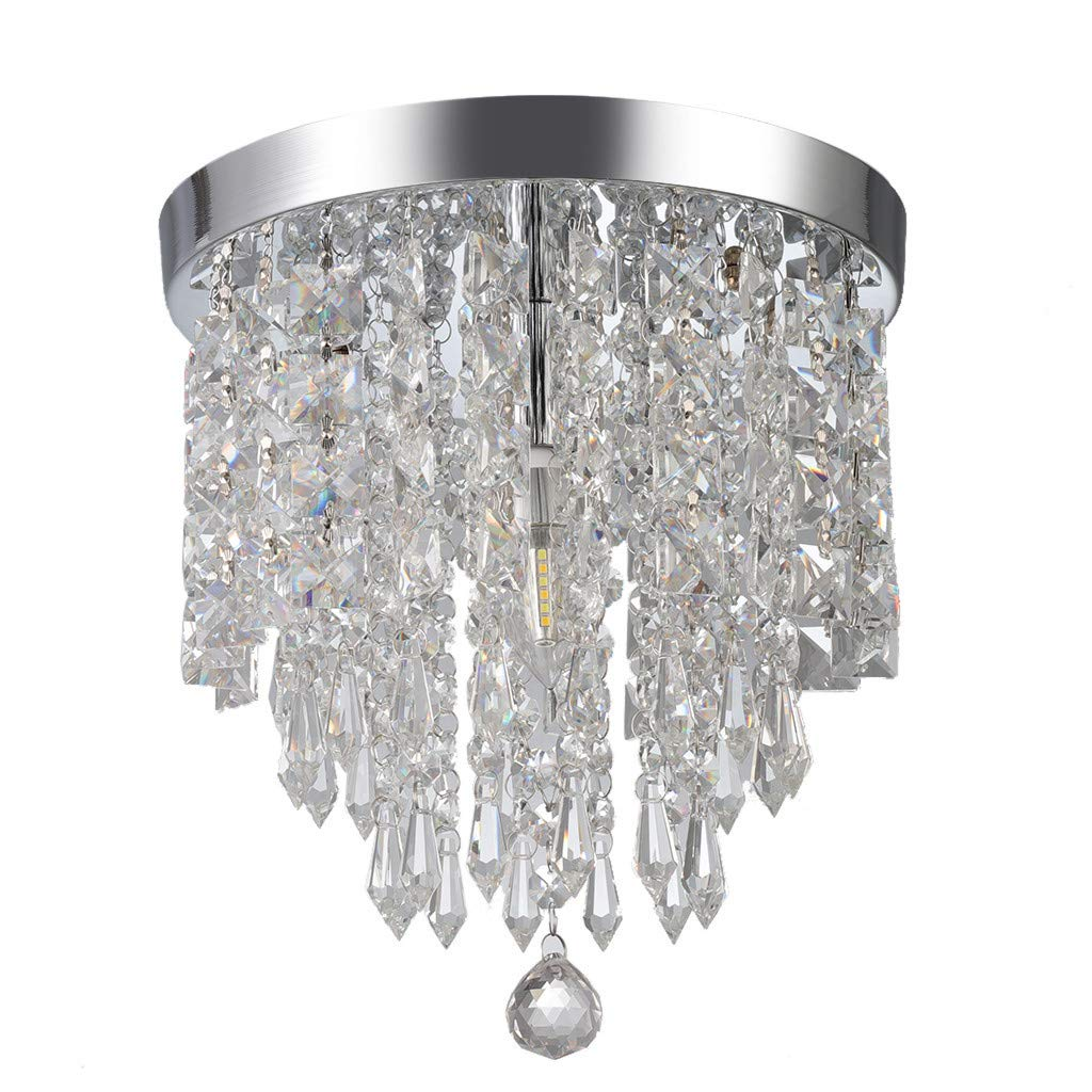 Chranto Modern Chandelier Crystal Ball Fixture Pendant Ceiling Lamp H9.84X W8.66IN