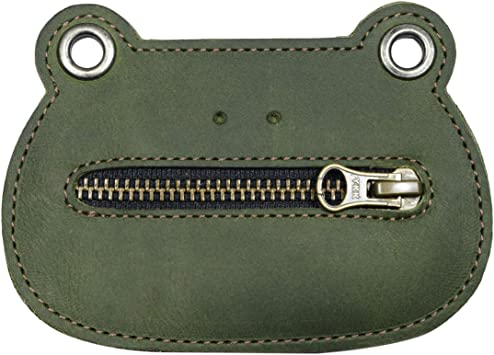 Hide & Drink, Leather Frog Wallet / Froggy Coin Pouch / Purse / Accessories / Holder / Cute Wallet , Handmade :: Dark Jade