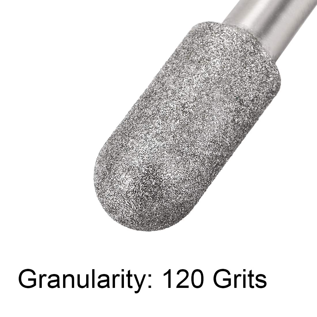 uxcell Diamond Burrs Grinding Drill Bits for Carving Rotary Tool 1//4-Inch Shank 10mm Cylindrical Ball Nose 120 Grit 10 Pcs