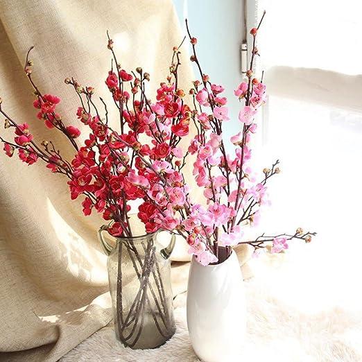 100 Pcs Cherry Plum Blossom Artificial Flower Floral Bouquet Home Table Decors