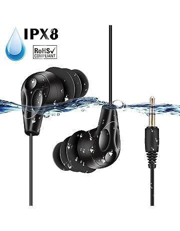 AGPTEK E11-Auriculares Sumergibles Acuaticos Impermeables IPX8 para Natacion Piscina Baño Playa y Mp3 Acuaticos